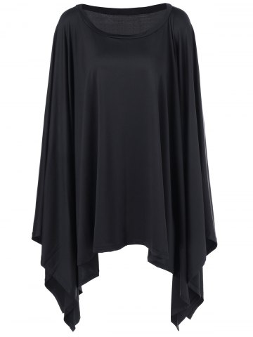 New Batwing Sleeve Asymmetrical Dress