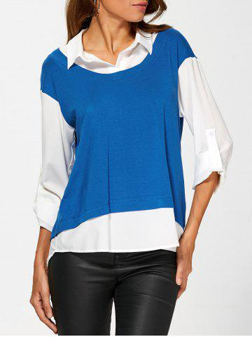 Affordable Adjustable Sleeve High Low Blouse