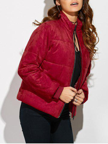 Affordable Padded Faux Suede Jacket
