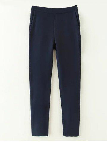 Cheap Casual Fit Suit Pants PURPLISH BLUE L