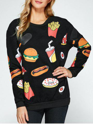 Best All Over Food Printed Funny Long Sweatshirt