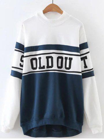 Outfit Letter Printed Color Block Sweatshirt WHITE L