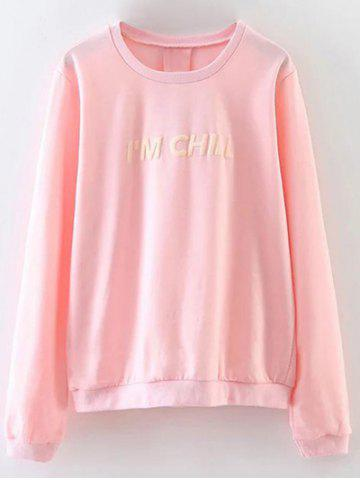 Affordable Chill Letter Loose Fitting Sweatshirt