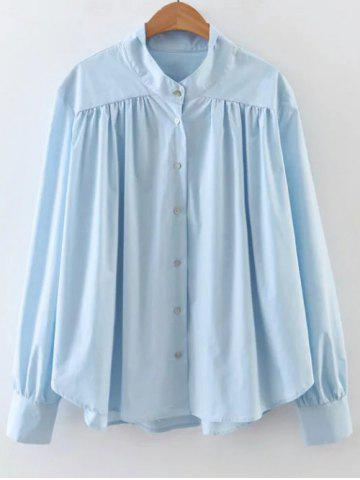 Cheap Ruched Loose Swing Shirt