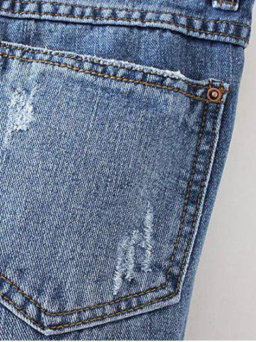 Outfits Patched Distressed Jeans - M DENIM BLUE Mobile