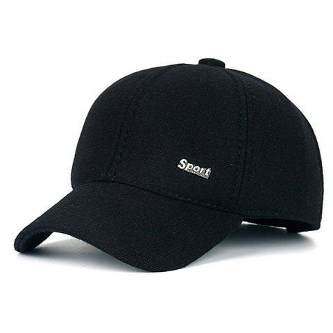 Outfits Warm Alloy Sport Label Felt Baseball Hat
