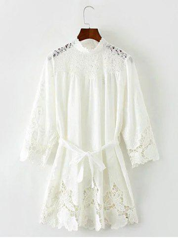 Fancy Lace Hollow Out Mini Dress