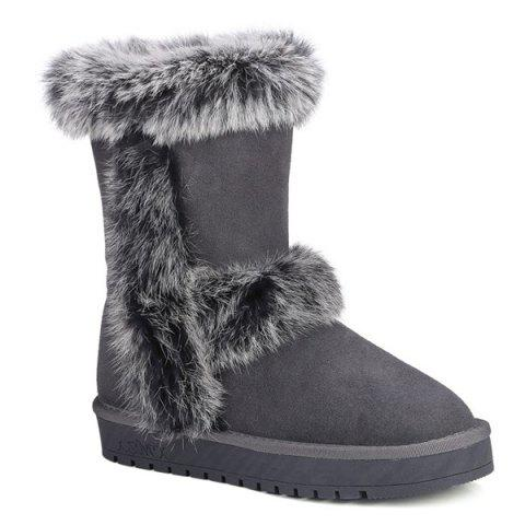 Latest Mid Calf Furry Snow Boots