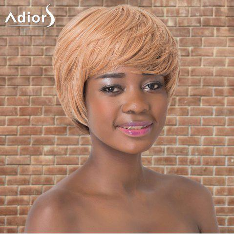 Fashion Adiors Short Layered Colormix Straight Side Parting Synthetic Wig