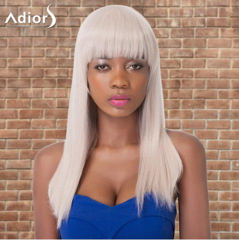 Best Adiors Long Straight Neat Bang Synthetic Wig