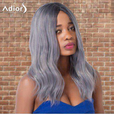 Outfit Adiors Long Slightly Curled Middle Parting Ombre Synthetic Wig