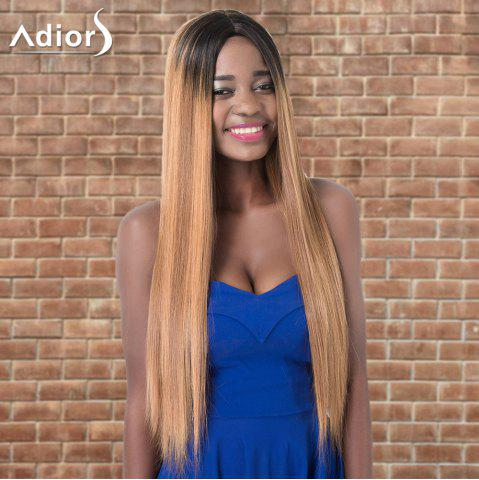 Discount Adiors Ultra Long Ombre Centre Parting Straight Synthetic Wig