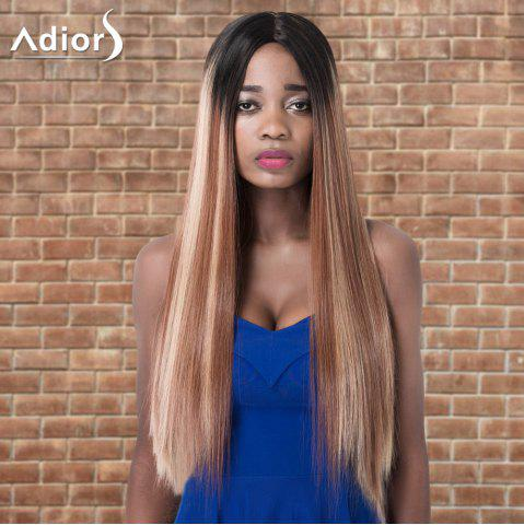 Hot Adiors Long Straight Highlight Centre Parting Synthetic Wig