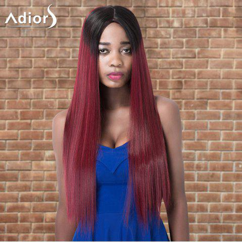 Fashion Adiors Long Straight Ombre Centre Parting Synthetic Wig