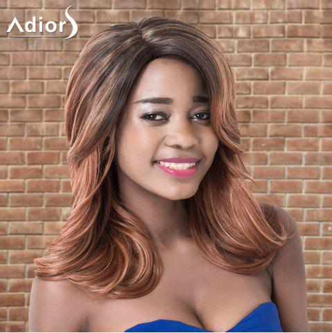 Chic Adiors Medium Layered Wavy Ombre Side Parting Synthetic Wig