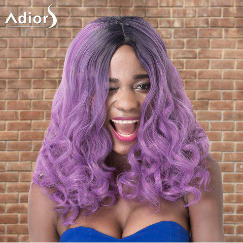 Buy Adiors Medium Shaggy Curly Colormix Centre Parting Synthetic Wig