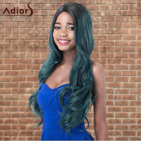 Fancy Adiors Colormix Long Shaggy Wavy Side Parting Synthetic Wig COLORMIX