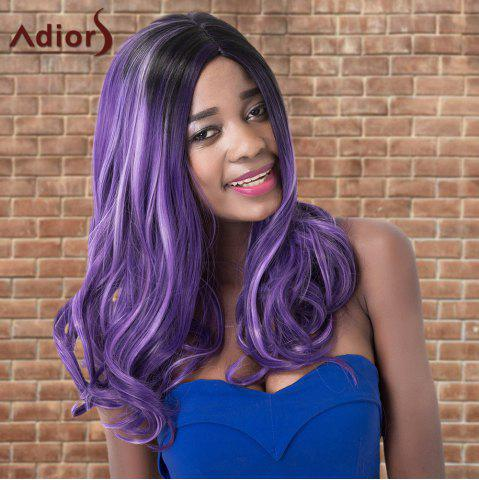 Shops Adiors Highlight Long Wavy Side Parting Synthetic Wig COLORMIX