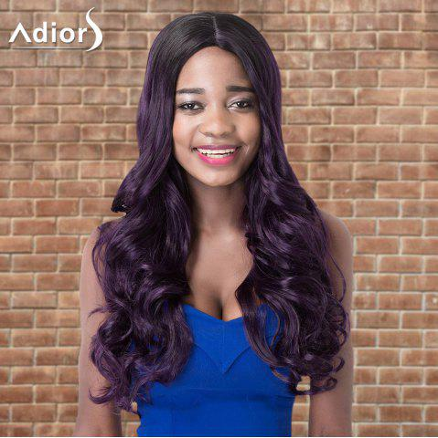 Buy Adiors Long Wavy Side Parting Highlight Synthetic Wig COLORMIX
