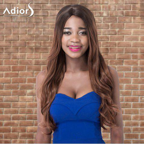 Fashion Adiors Long Shaggy Wavy Side Parting Colormix Synthetic Wig