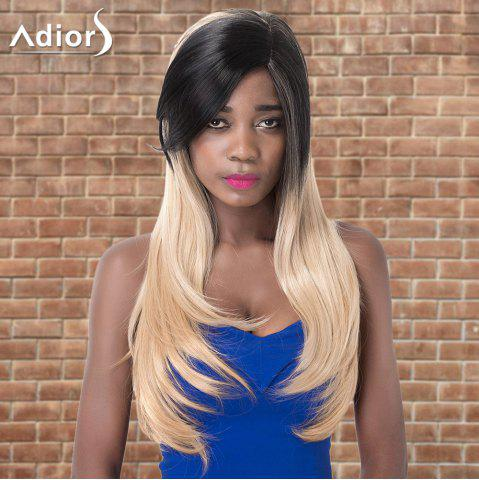 Buy Adiors Long Side Parting Straight Tail Adduction Colormix Synthetic Wig