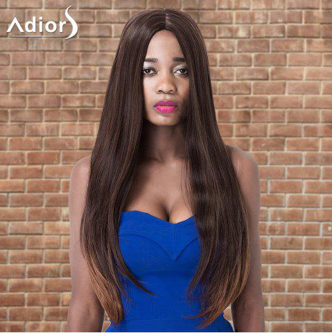 Hot Adiors Long Centre Parting Straight Colormix Synthetic Wig