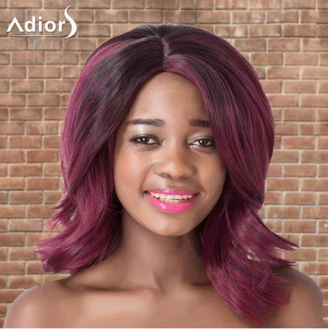 Online Adiors Medium Side Parting Wavy Colormix Synthetic Wig PURPLE
