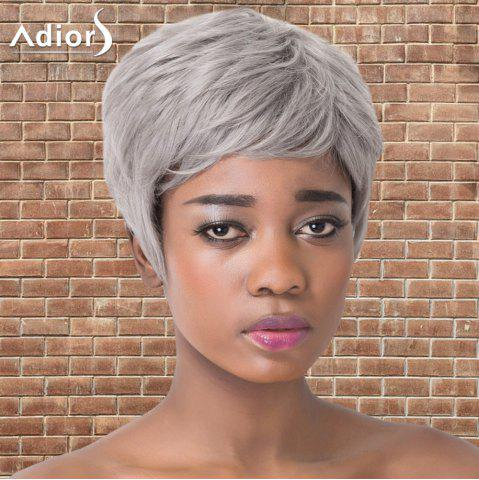 Unique Adiors Short Haircut Straight Synthetic Wig