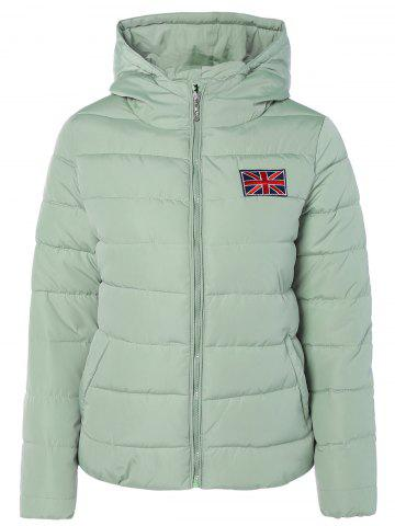 Latest Winter England Flag Embroidery Hooded Down Jacket