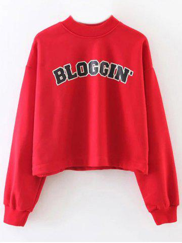 Outfit BLOGGING Letter Cropped Sweatshirt