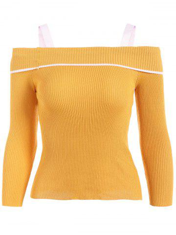 Cheap Off-The-Shoulder Slim Fit Knitwear