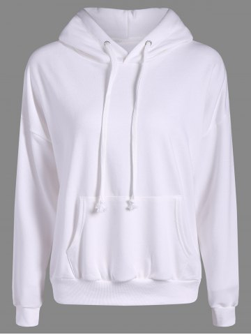 Shops Drop Shoulder Heart Embroidery Pattern Loose Hoodie OFF WHITE ONE SIZE
