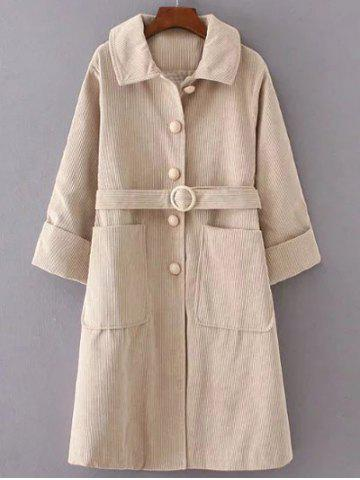 Chic Belted Single Breasted Coat