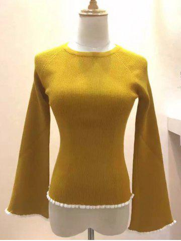 Hot Bell Sleeve Tight Pullover Sweater