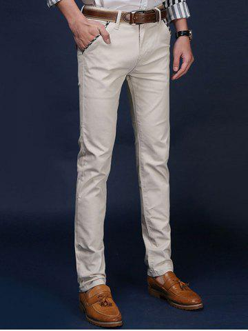Fancy Mid Rise Pocket Zipper Fly Skinny Chino Pants - 31 OFF-WHITE Mobile