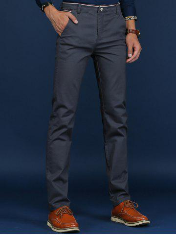 Hot Trimmed Mid Rise Skinny Chino Pants DEEP GRAY 38