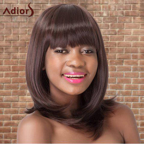 Fancy Adiors Medium Neat Bang Straight Colormix Synthetic Wig