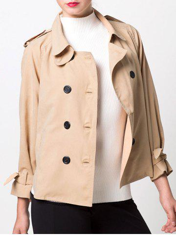 Chic Double-Breasted Loose Duster Jacket