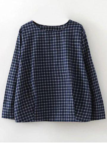 Hot Plaid Graphic Blouse