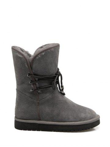 Hot Mid Calf Fuzzy Snow Boots