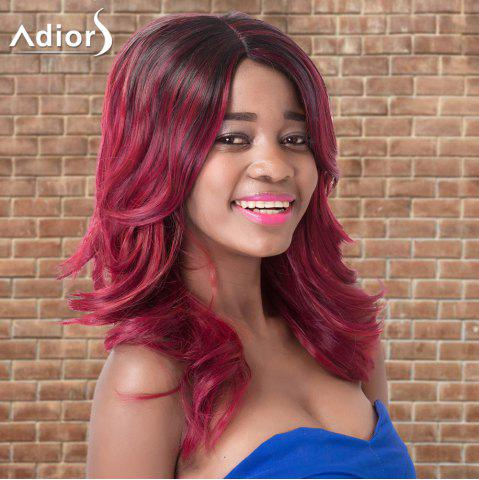 Fancy Adiors Long Side Parting Wavy Colormix Synthetic Wig