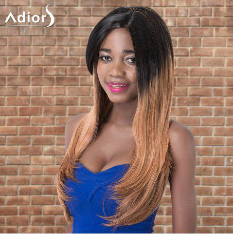 Online Adiors Long Side Parting Straight Colormix Synthetic Wig