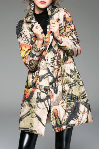 Store A Line Printed Padded Coat