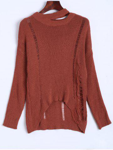 Buy Slouchy Dropped Shoulder Distressed Sweater JACINTH ONE SIZE