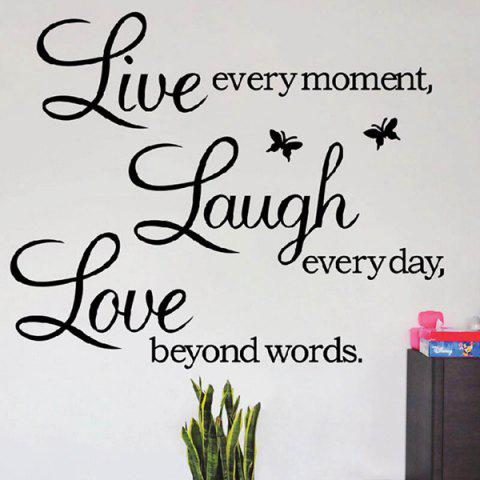 Outfit Art Life Removeable Wall Sticker BLACK