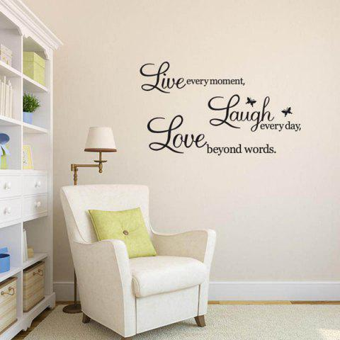 Chic Art Life Removeable Wall Sticker - BLACK  Mobile