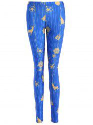 Slimming Christmas Reindeer Leggings