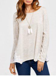 Lace Trim Heather T-Shirt