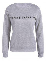 Pullover Letter Printing Sweatshirt