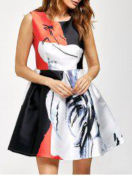 Graphic Fit And Flare Dress